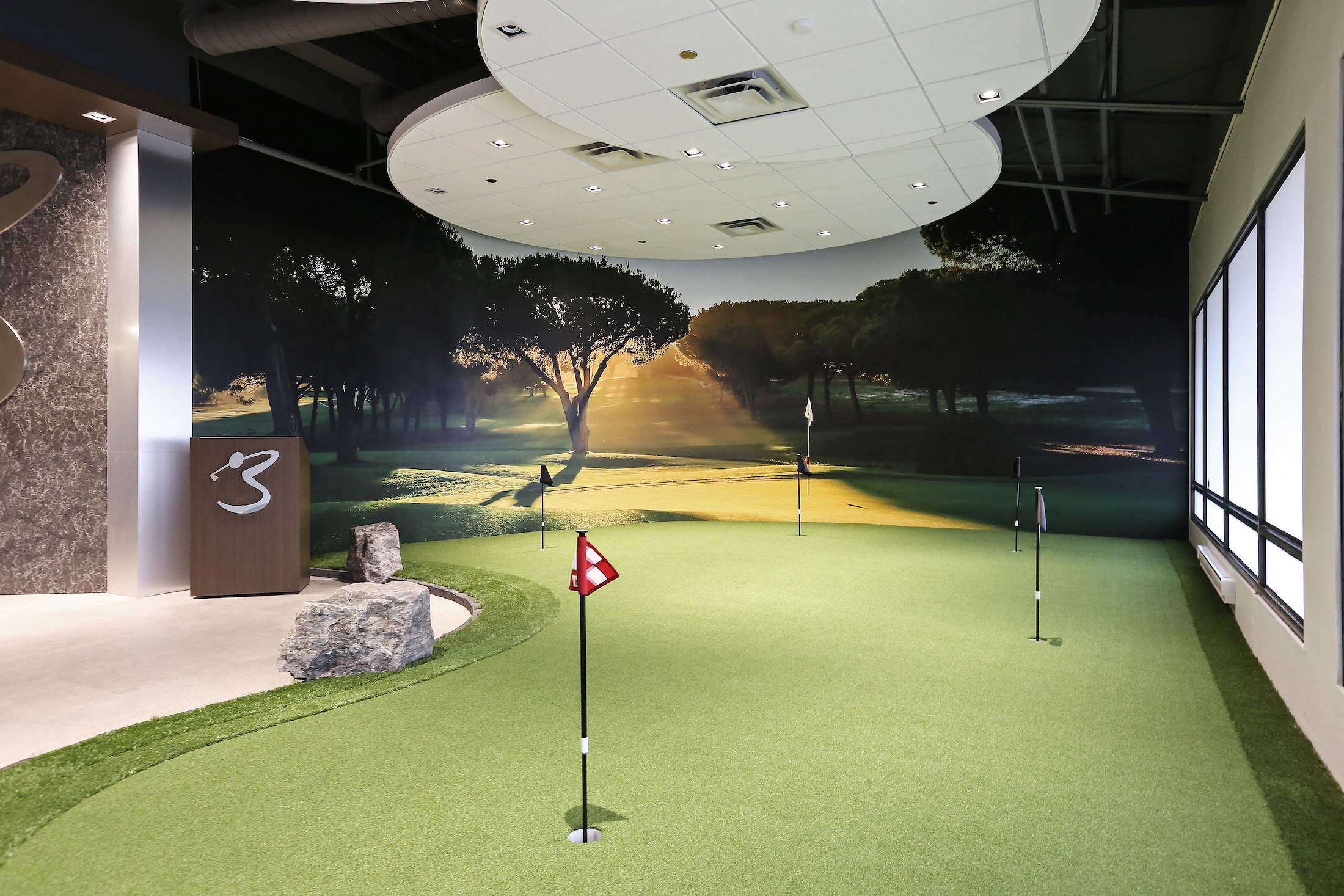 Swing golf lounge e-interior