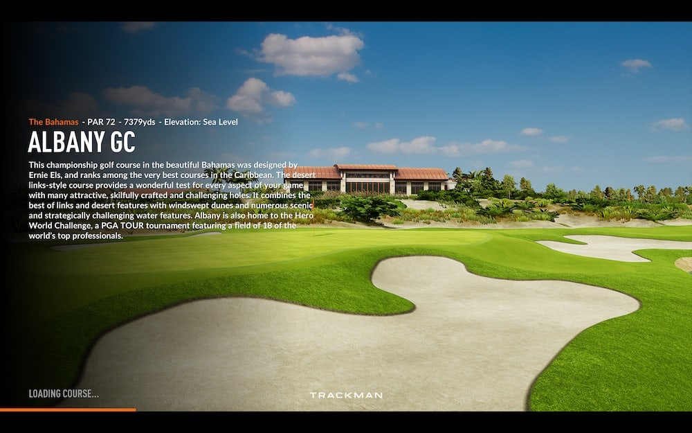 The Albany Trackman golf course image